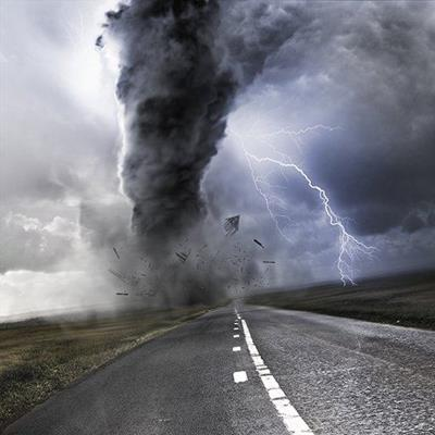 TORNADO, LIGHTNING, TWISTER, THUNDER, FUNNEL, ROAD, STRIKE, STORM, WIND, BOLT