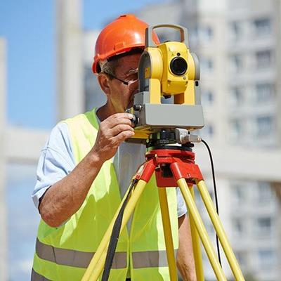 ENGINEER, INSTRUMENT, SURVEYOR, THEODOLITE, TRIPOD, HELMET, BUILDING, VEST, PLANNING