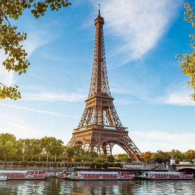 PARIS, EIFFELTOWER, TOURISTS, BOATS, RIVER, CAPITAL, TREES, FRANCE, LANDMARK, SEINE