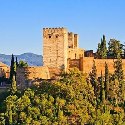 SPAIN, ALHAMBRA, FORT, WALLS, TOWERS, PALACE, CASTLE, RAMPARTS, ROYAL