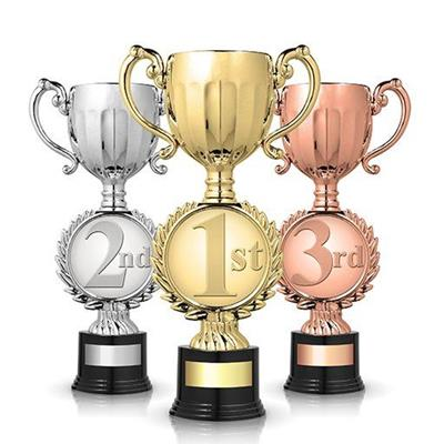 CUPS, SECOND, THIRD, SILVER, BRONZE, TROPHIES, WINNER, FIRST, GOLD, NUMBERS, CONTEST