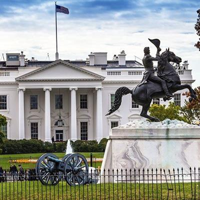 WHITEHOUSE, FLAG, CANNON, LANDMARK, HORSE, STATUE, PRESIDENT, FLOWERS, RIDER, HAT