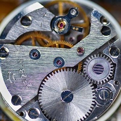 GEARS, INSTRUMENT, TIME, MECHANISM, COGS, WATCH, SPRINGS, JEWELS, METAL, CIRCLE, BRASS