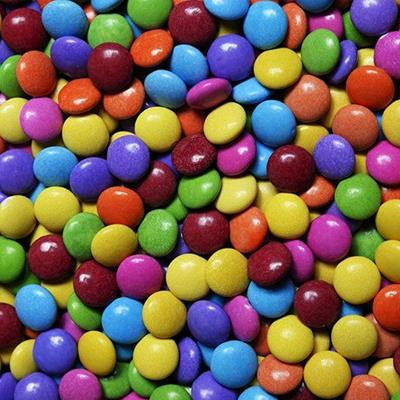 CANDY, PURPLE, YELLOW, GREEN, RED, CHOCOLATE, PINK, ORANGE, BLUE, ROUND, TREATS