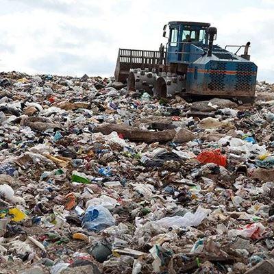 LANDFILL DISPOSAL COMPACTOR REFUSE DEBRIS DUMP WASTE PLASTIC