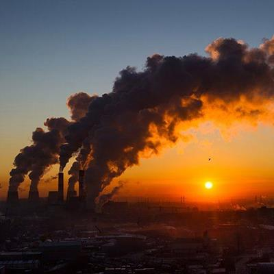 POLLUTION, SMOKE, FACTORY, TOXIC, EMISSIONS, INDUSTRY, PARTICLES, SMOG, PLUME, SUNSET, PLANT