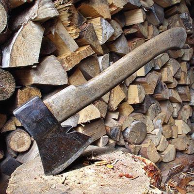 LOGS, HATCHET, LUMBER, HEAP, BLOCK, SAWDUST, TIMBER, WOODPILE, STACK, TOOL, FIRE, CHIPPINGS