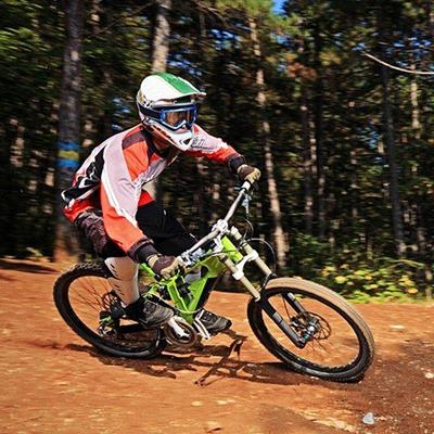 BICYCLE, RIDER, TRAIL, HELMET, SPEED, WHEELS, CYCLIST, DOWNHILL, EXERCISE, FOREST