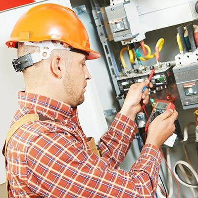 VOLTMETER, TESTING, CABLING, WIRING, POWER, HELMET, FAULT, ELECTRICIAN, FUSEBOARD, INSPECTION