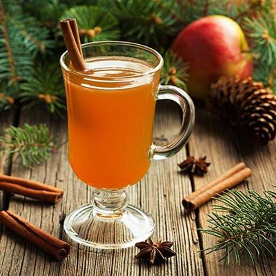 PINECONES, CINNAMON, STARANISE, FESTIVE, SPICES, CIDER, APPLES, NEEDLES, CUP, GLASS, LIQUID
