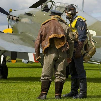 VINTAGE, FLY, AIRCRAFT, BOOTS, PLANE, UNIFORM, PILOT, FIGHTER, BATTLE, AIRFIELD