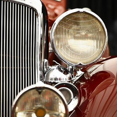 LAMPS, RADIATOR, RESTORED, CHROME, VINTAGE, CAR, GRILLE, POLISHED, CLASSIC, AUTOMOBILE
