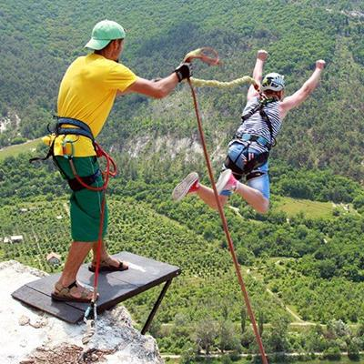 CHALLENGE, COURAGE, MOUNTAIN, BUNGEEJUMP, EXCITING, EXTREME, ADVENTURE, ADRENALINE