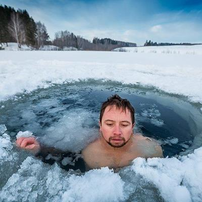 WINTER, SWIMMER, PLUNGE, FROZEN, IMMERSION, ICEHOLE, FREEZING, SNOW, EXERCISE, COLD