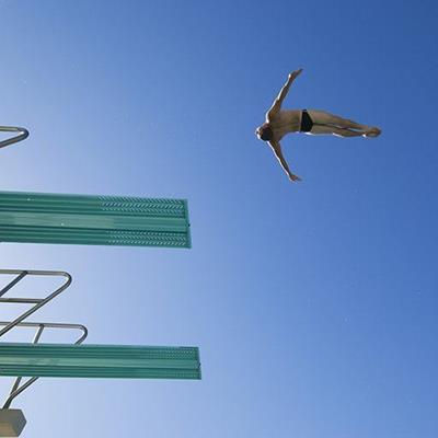 SPRINGBOARD, SWIMMER, GRACEFUL, DIVE, OLYMPICS, SPORT, JUMP, MIDAIR, FALLING