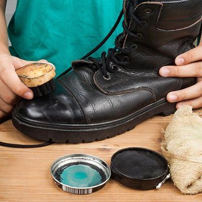 CLEANING, BOOT, TIN, CLOTH, SHINE, UPPER, BRUSH, POLISHING, BLACK, SHOELACE, LEATHER