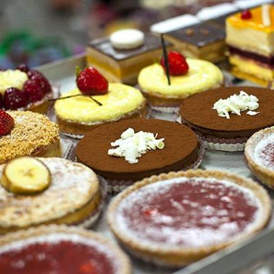 TARTS, CHOCOLATE, CREAM, FRENCH, SWEET, PASTRIES, CAKE, DECORATION, TREAT, GOURMET