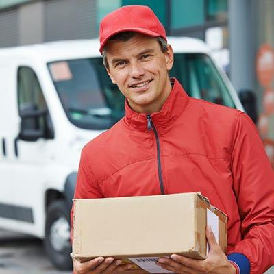 MAIL, COURIER, PACKAGE, ZIPPER, DELIVERY, VAN, UNIFORM, SHIPPING, CARDBOARD, PARCEL