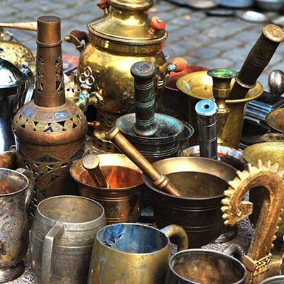 TABLEWARE, STALL, METALWORK, BRASS, SOUK, EASTERN, MARKET, BAZAAR, OBJECTS, COPPER