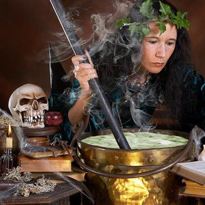 WITCH, HALLOWEEN, BREW, SKULL, SPELL, SPOOKY, BLACKMAGIC, POTION, BOOK, BUBBLING