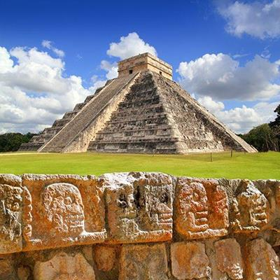 PYRAMID, ANCIENT, WALL, STONE, CARVINGS, MEXICO, RELIGION, STRUCTURE, SACRED