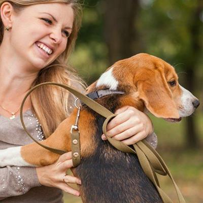BEAGLE, OWNER, NECKLACE, PUPPY, RING, STRAP, CLASP, LEASH, EARRING, HAPPY, TRAINING, COLLAR, RIVET