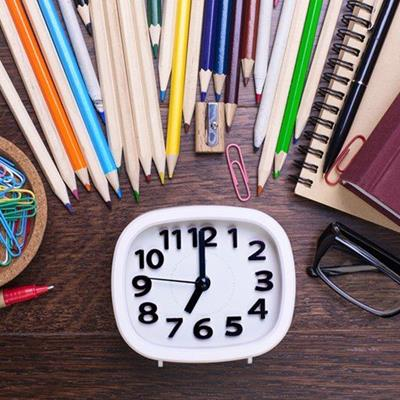 NUMBERS, TIME, LENS, FRAME, PEN, PENCIL, NOTEPAD, CLOCK, HANDS, SPECTACLES, SHARPENER, PAPERCLIP