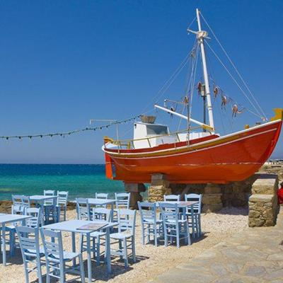 FISHINGBOAT, MAST, LIGHTS, ROPE, HULL, TABLES, MENU, RUDDER, LAMP, CHAIRS, WALL, OCEAN